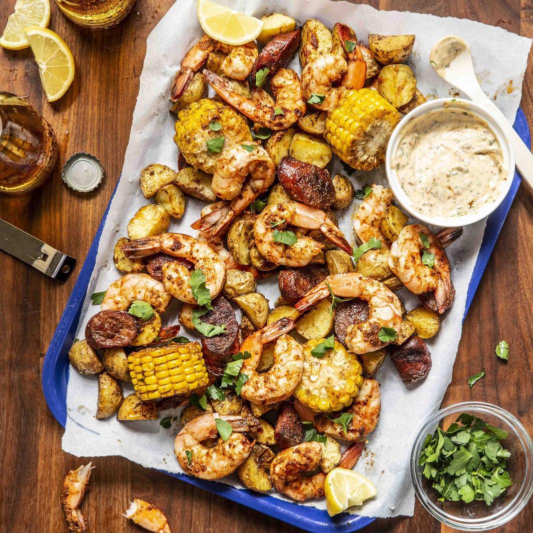 Shrimp Boil Foil Packs | Amber